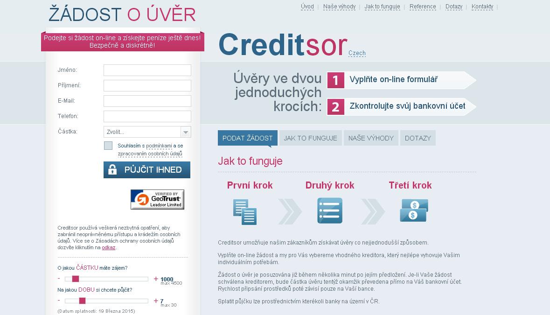 Creditsor půjčka do 5000 Kč